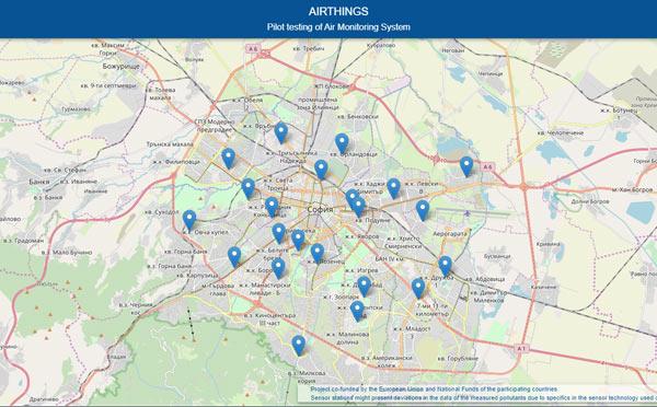 МРЪСЕН ВЪЗДУХ - ниво на замърсеност на въздуха в София според Столична община