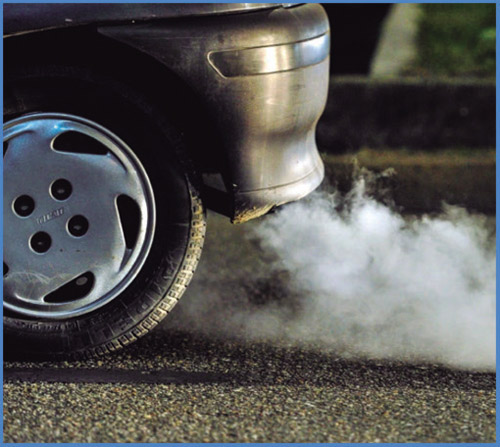 Предпазва от димни газове в трафика на града